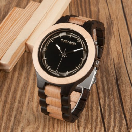 Male Antique Wooden Watch With Giftbox