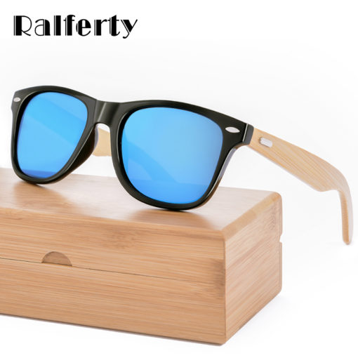 Ralferty Sporty Design Wood Sunglasses
