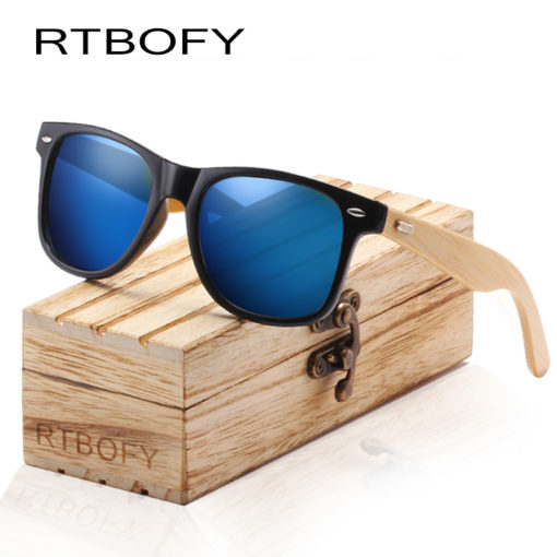 Fashionable Square Wood Acrylic Handmade Sunglasses