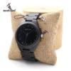 Ebony Japanese Movement Wristwatch with Bamboo Box