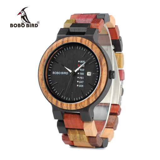 Luxury Brand Men's Wristwatch with Date & Week Display