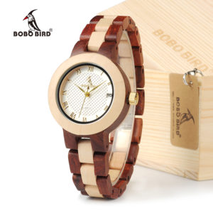 Rose Sandalwood Luxury Brand Wristwatch for Women