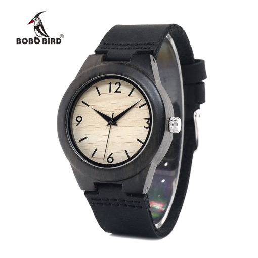Ebony Wooden Casual Wristwatch for Ladies